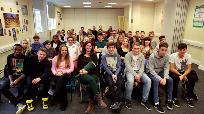 Verity Wislocki visits Blenheim High School, Surrey