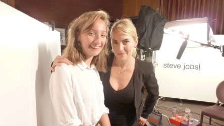 Kate Winslet with reporter Beattie