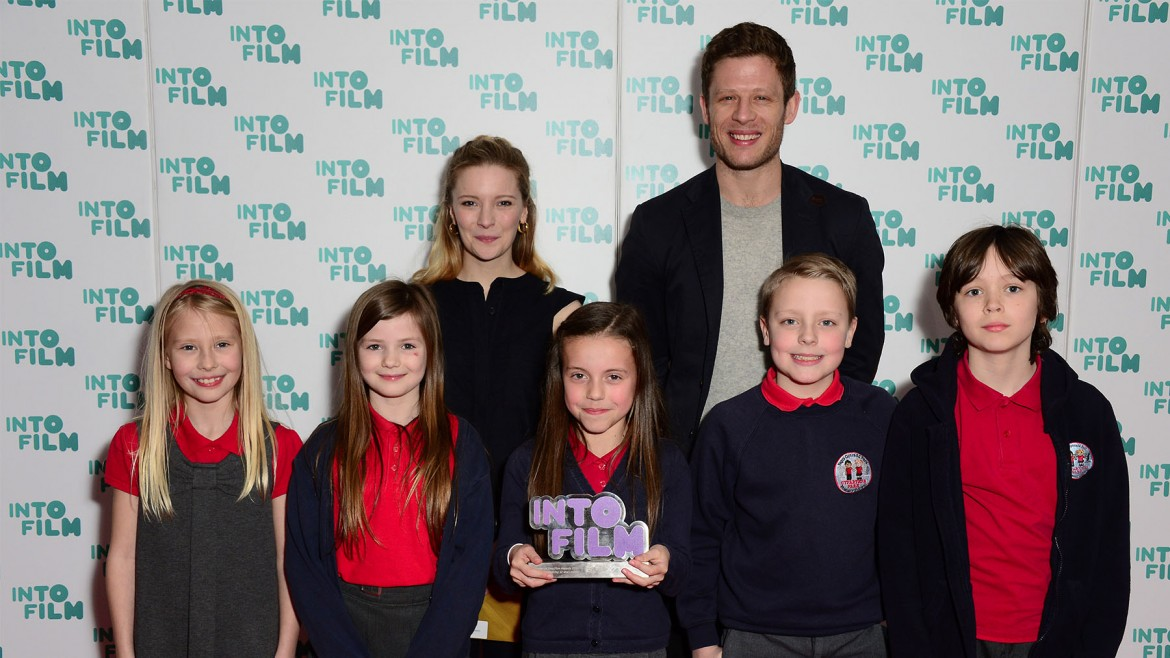 Winners of the Best Animation 12 and under award at  the Into Film Awards