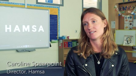 During Refugee Week, Caroline Spearpoint, director of short film Hamsa, vis