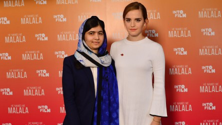 Malala Yousafzai and Emma Watson at IFF15
