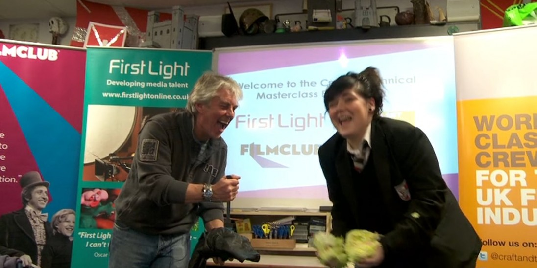 Foley Artist John Fewell visited Lawnswood Academy in Leeds to deliver a Sk