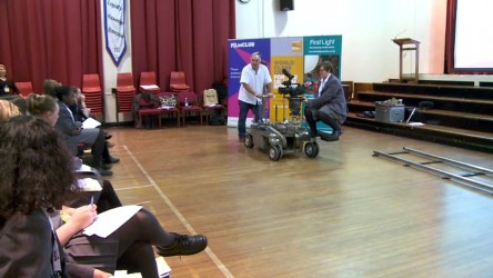 Grip Stuart Godfrey visited Townley Grammar School to give a masterclass in