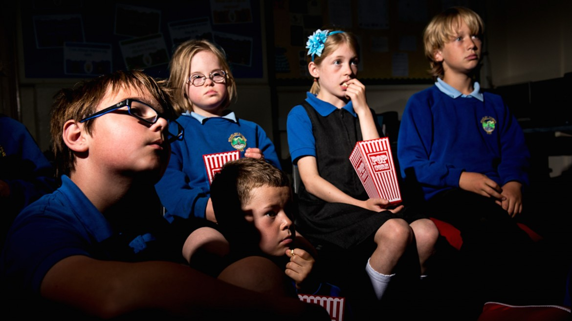 Kids Watching Films