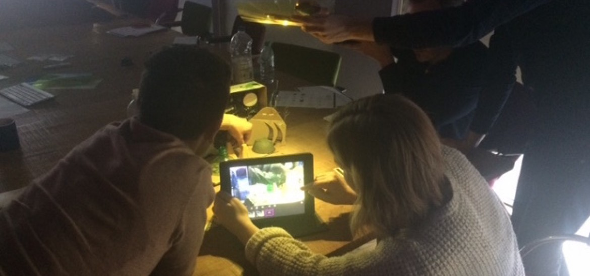 Teachers lighting their set in animation level 2 session