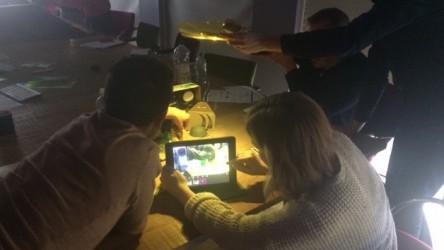 Teachers lighting their set in animation level 2 session