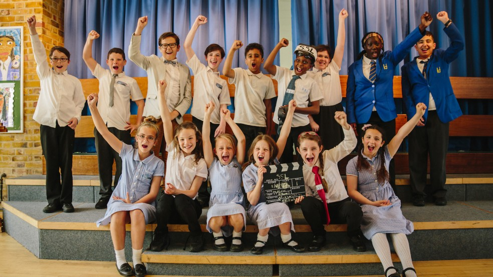 SSL filmmakers from Heathlands School for Deaf Children