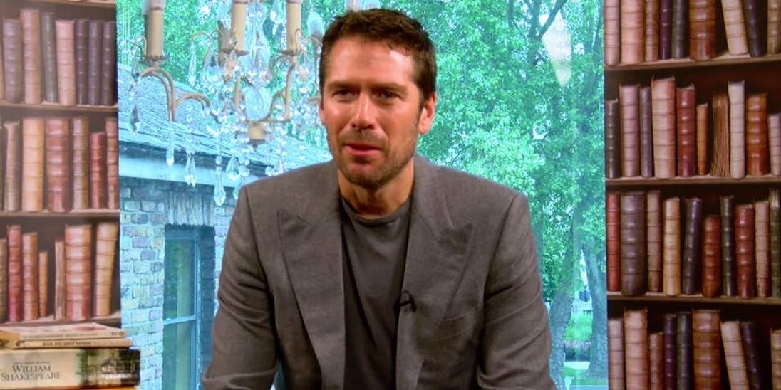 Actor Alexis Denisof who plays Benedict in director Joss Whedon's modern-dr