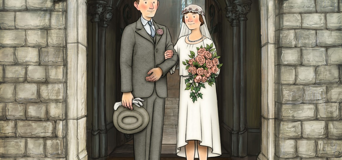 Ethel and Ernest Briggs wedding.