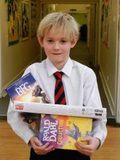 Sam, Giffnock Primary, Roald Dahl competition winner