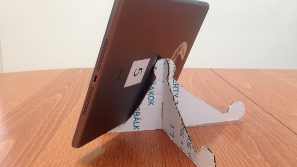 Template for Cardboard iPad Tripod