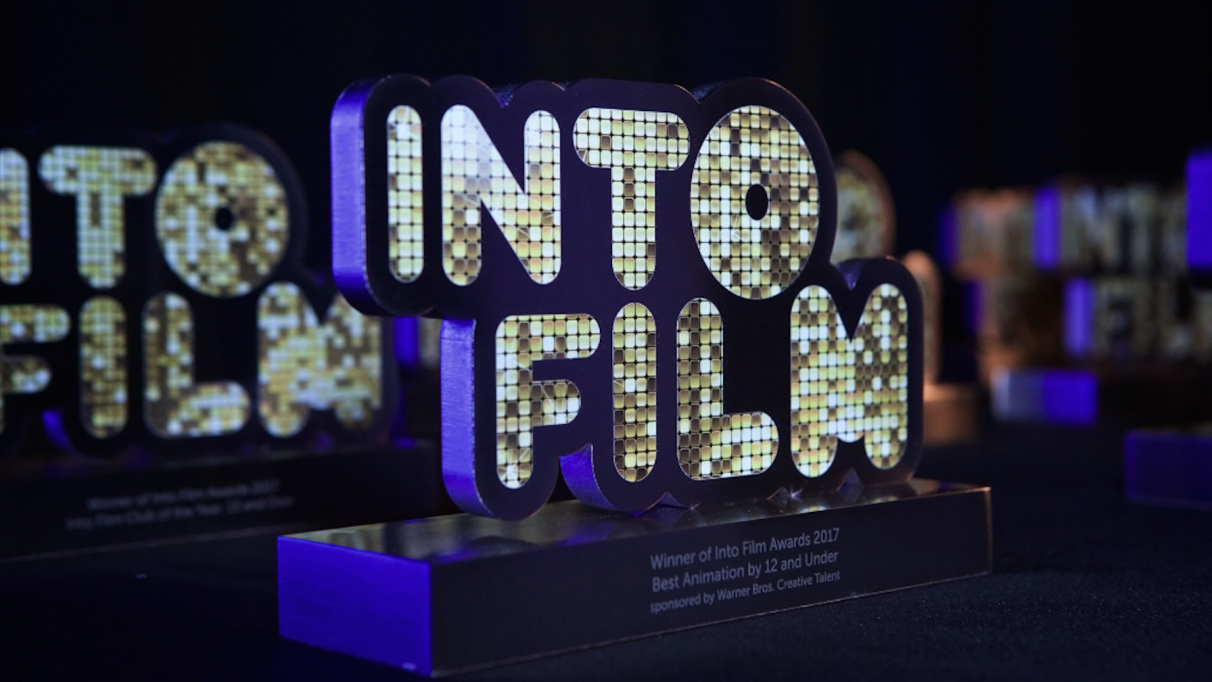 Into Film Awards 2017 statues