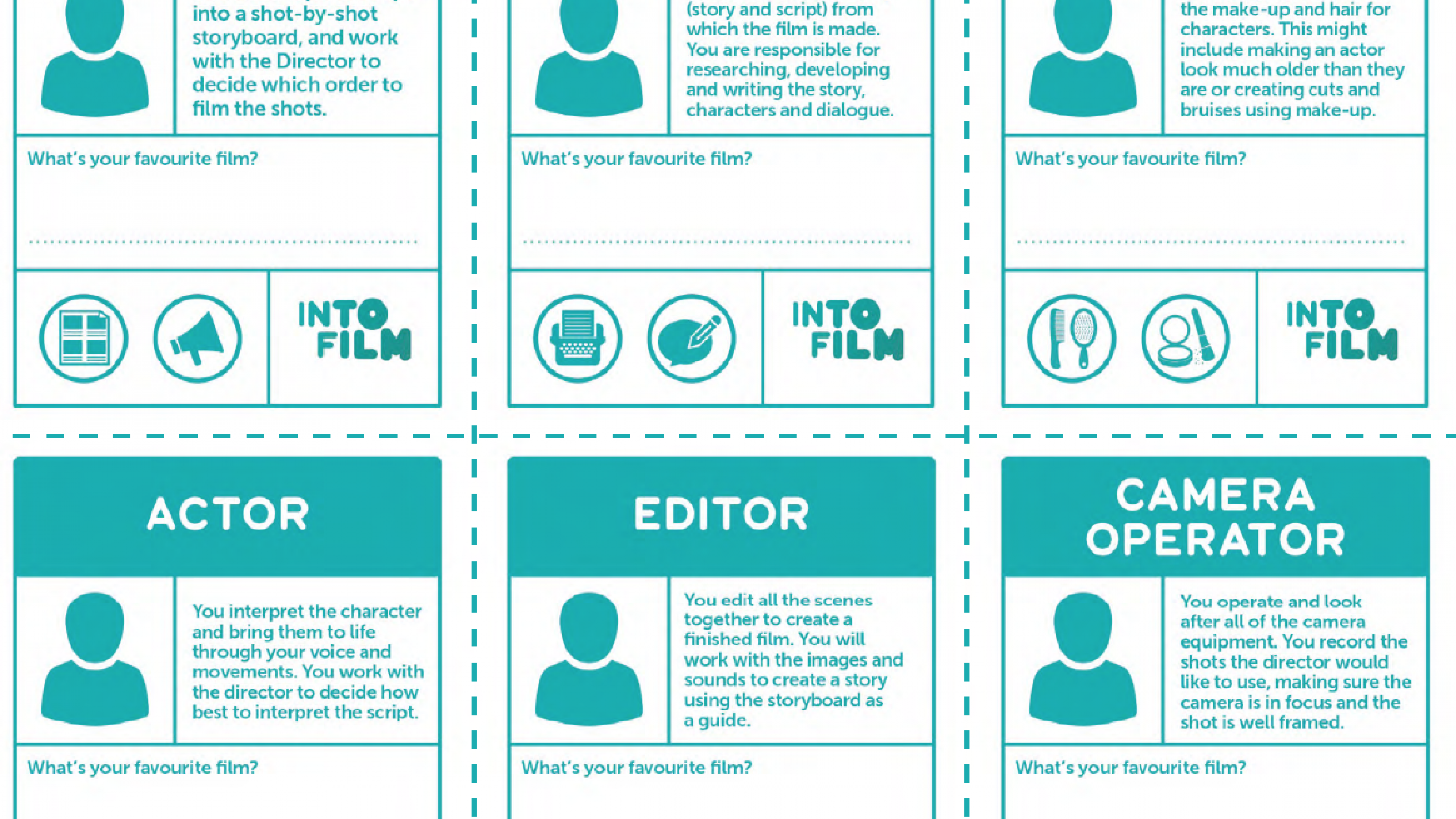 Filmmaking Job Role Cards