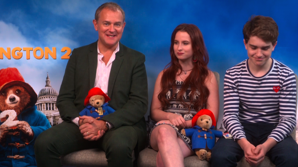 Paddington 2 with cast Hugh Bonneville, Madeleine Harris & Sam Joslin