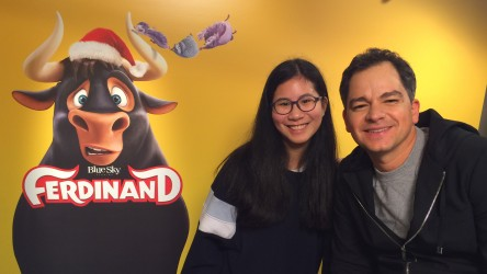 Ferdinand interview - Emilie with director Carlos Saldanha
