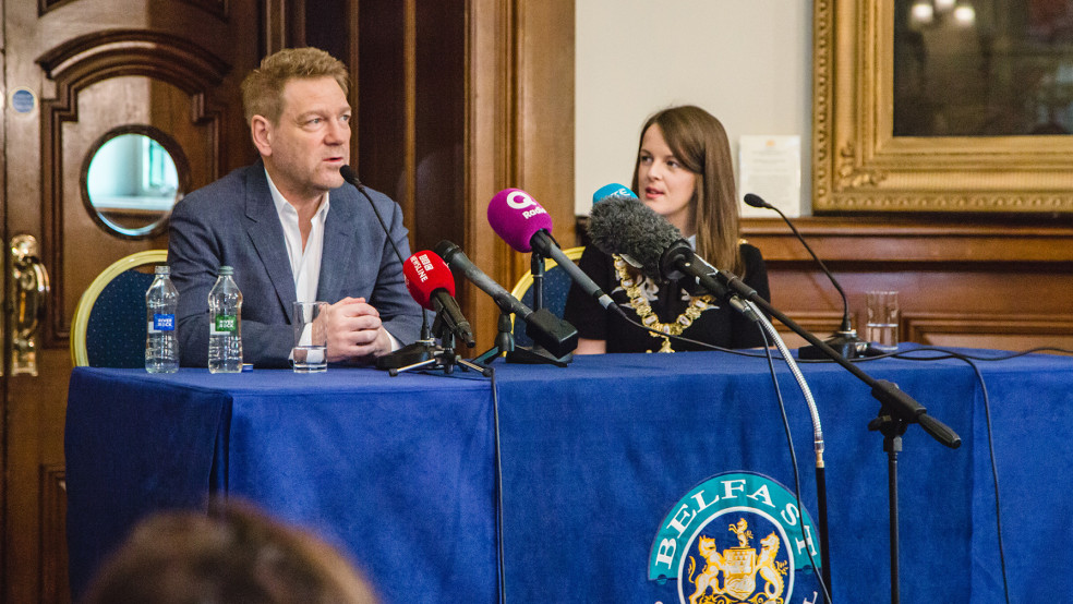 Kenneth Branagh visiting schools in Northern Ireland