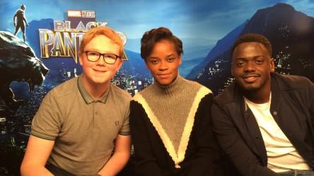 Black Panther Letitia Wright and Daniel Kaluuya with Eli