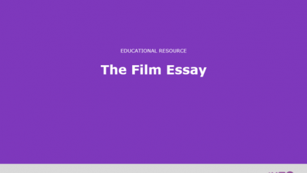 Film Essay cover image