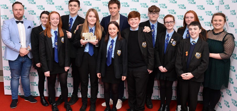 Eddie Redmayne presenting at the 2017 Into Film Awards