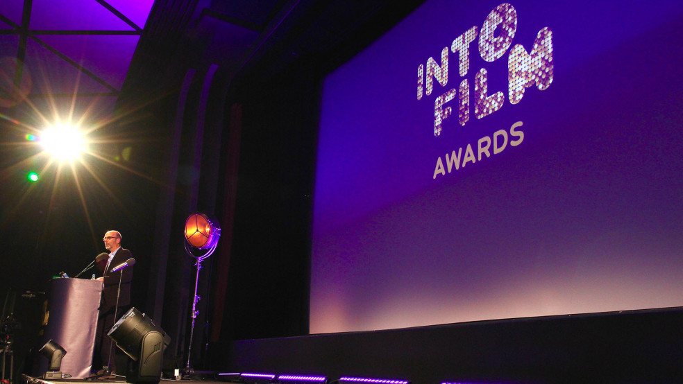 Into Film Awards 2018 - Eric Fellner on stage