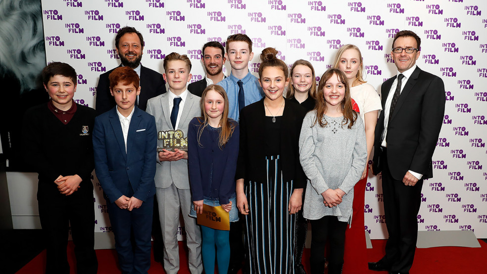 Best Animation: 12 and Under winners with presenters and sponsors