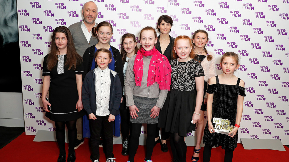 Best Live Action: 12 and Under winners, with presenter Gemma Arterton