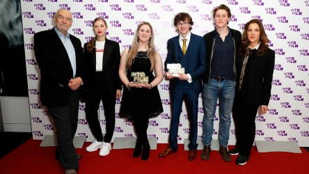 Ones to Watch winners Emily and Ryan with presenters and sponsors.
