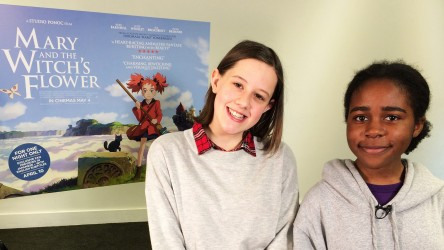 Ruby Barnhill and reporter Aarony talk 'Mary and the Witch's Flower'