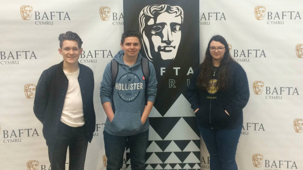 Hedydd, Owain and Amy at Bafta GURU Live in Cardiff