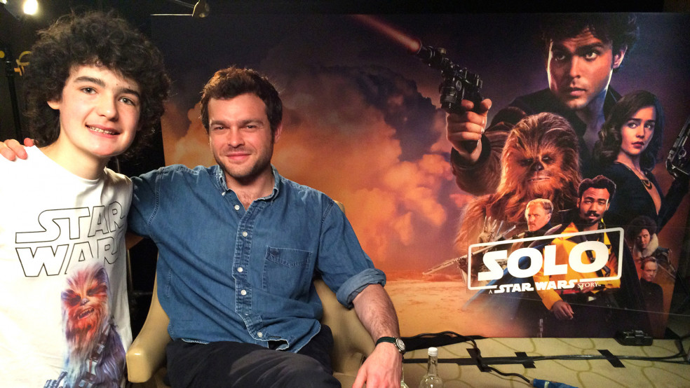 Archie interviews Alden Ehrenreich about his role as Han Solo