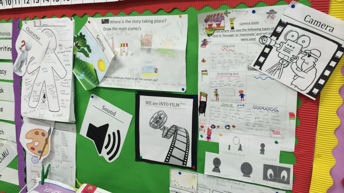 A classroom display from St Patrick's PS, Ballygalget