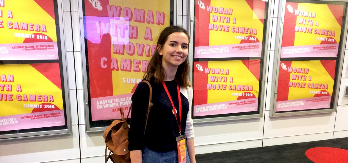 Reporter Alexa at the BFI's 'Woman with a Movie Camera' Summit