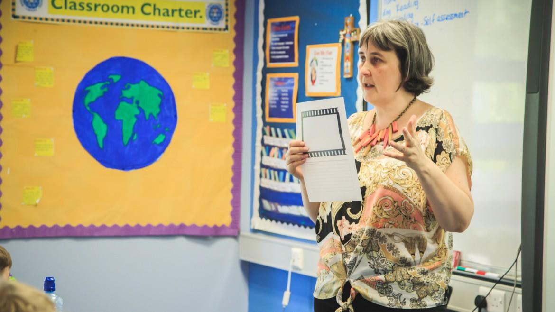 Image of teacher delivering a film liteacy lesson.