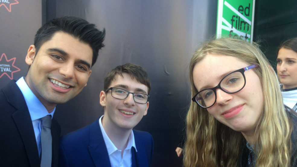 Emilija and cast of Eaten by Lions Antonio Aakeel and Jack Carroll