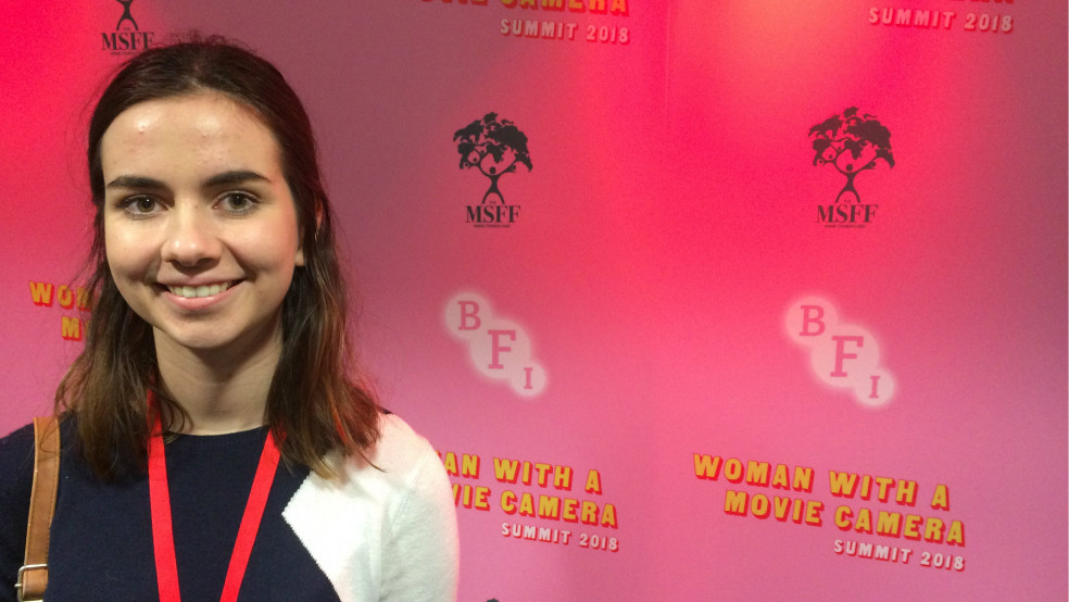 Reporter Alexa at the BFI's Woman with a Movie Camera Summit