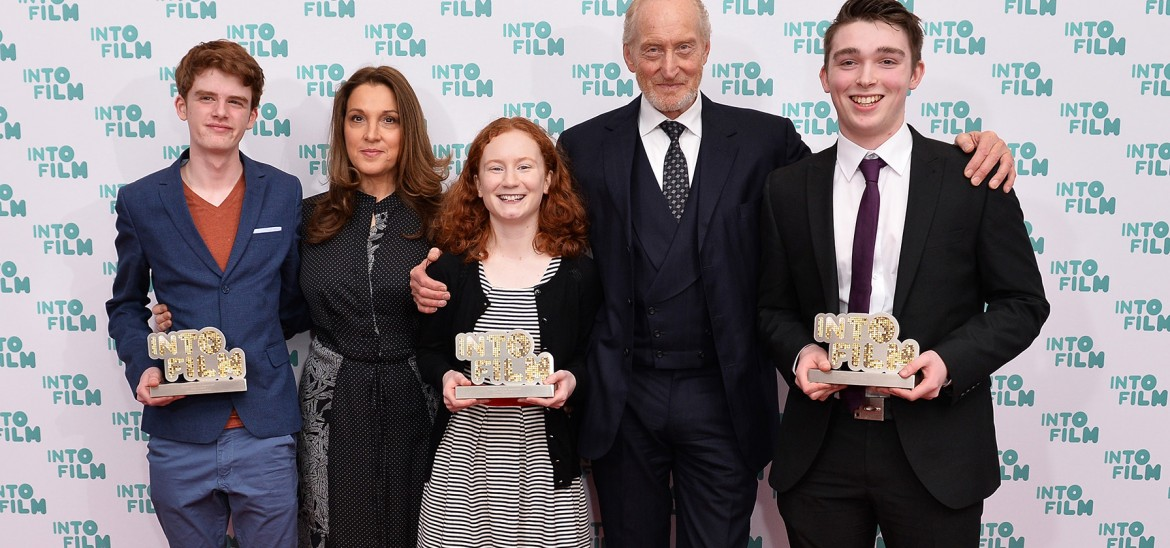 IFA 2017 recipients of the Ones to Watch award with Charles Dance