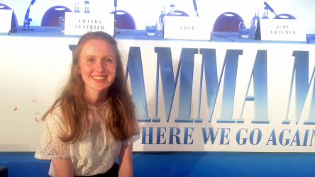 Eve at Mamma Mia! Here We Go Again press conference