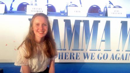 Eve at Mamma Mia! Here We Go Again press conference