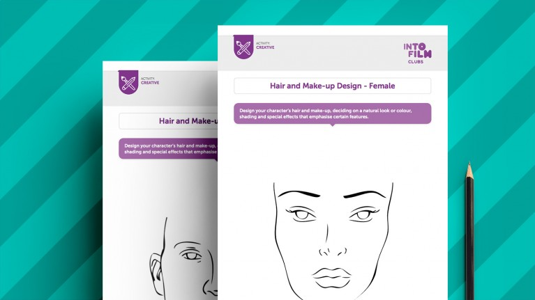 Hair and Make-up Design Template
