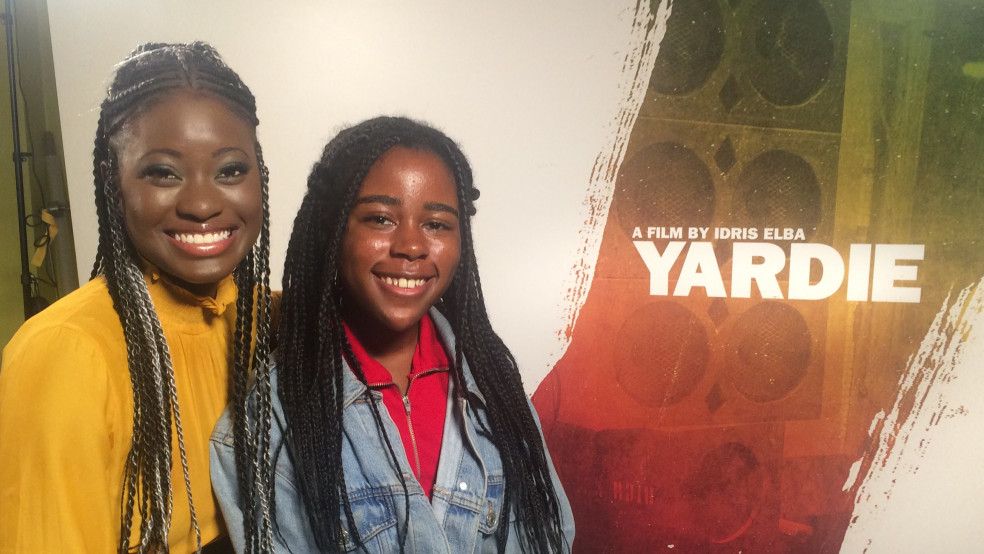 Yardie Actress Shantol Jackson with Young Reporter Aarony