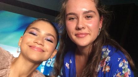 Zendaya with Reporter Rebecca