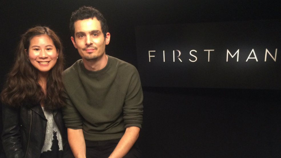 Emilie with Damien Chazelle