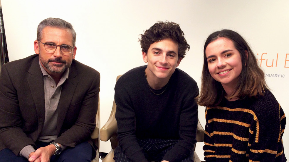Steve Carell, Timothee Chalamet at LFF Junket for Beautiful Boy