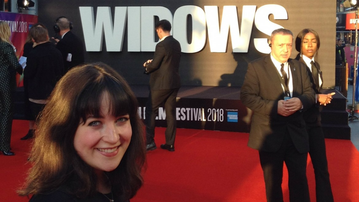 Reporter Eleanor on the red carpet for Widows