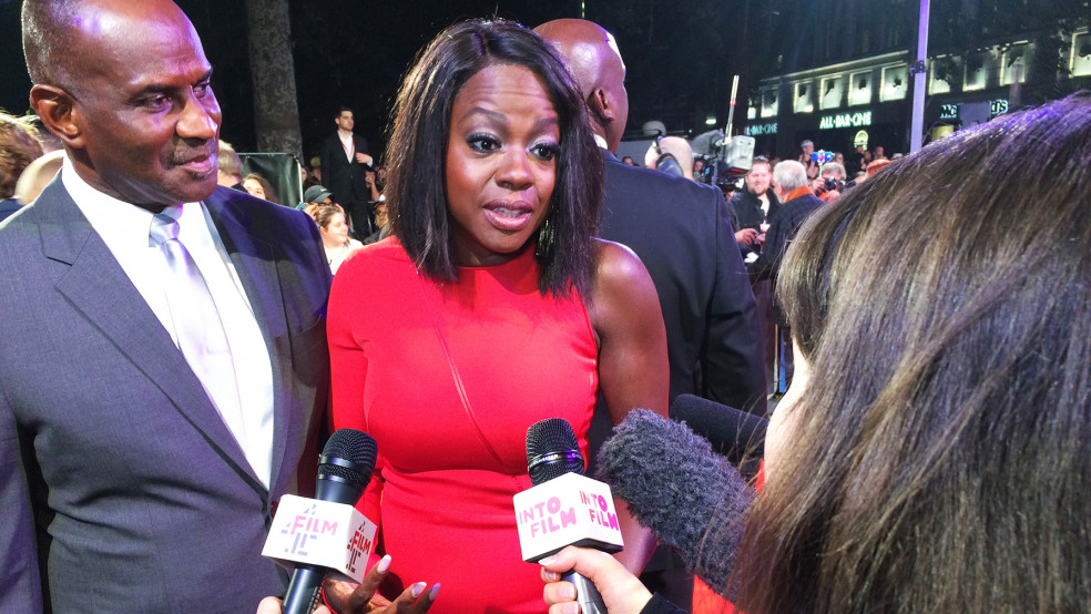 Viola Davis at 'Widows' London Film Festival premiere
