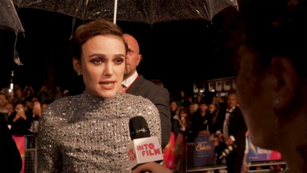 Keira Knightley on the red carpet for 'Colette'