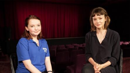 Carey Mulligan and reporter Catherine