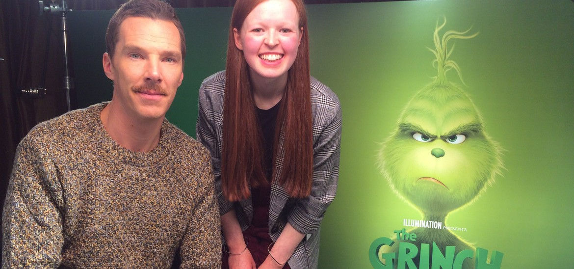 The Grinch Star Benedict Cumberbatch and reporter Eve G