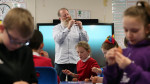 Jim Parkyn of Aardman visits Llanharan Primary School (2)