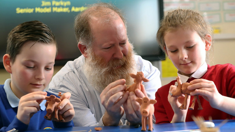Jim Parkyn of Aardman visits Llanharan Primary School (5)